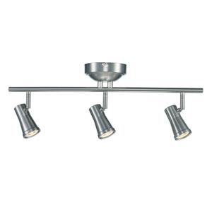 Robbins Brushed Nickel Three-Light LED Track Light