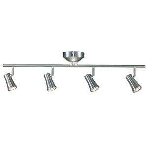 Robbins Brushed Nickel Four-Light LED Track Light
