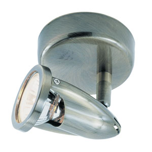The Spot Single Light Round -Brushed Nickel