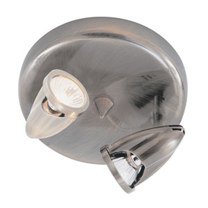 The Spot Double Light Round -Brushed Nickel
