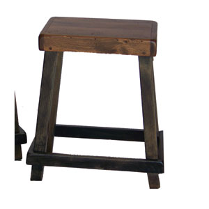 Noir Chef Counter Stool with Caramel Seat