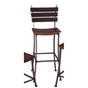 Pine Stave Back 30-Inch Bar Stool