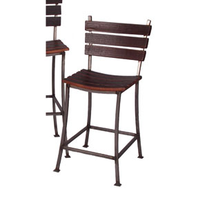 Pine Stave Back 24-Inch Bar Stool