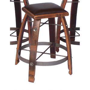 Caramel 28-Inch Stool with Chocolate Leather Seat