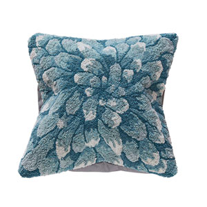 Frontporch Aqua 18-Inch Mum Outdoor Pillow