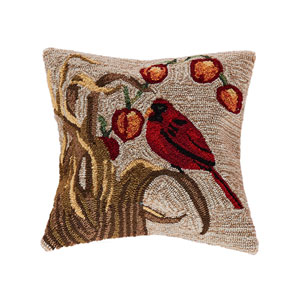 Frontporch Neutral 18-Inch Bird Outdoor Pillow