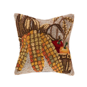 Frontporch Neutral 18-Inch Corn Outdoor Pillow
