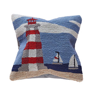 Frontporch Sky 18-Inch Lighthouse Outdoor Pillow
