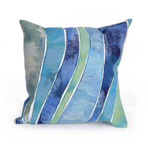Visions III Ocean 20-Inch Waves Outdoor Pillow