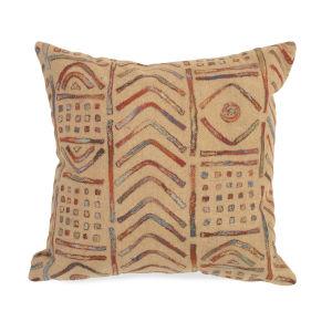 Liora Manne Visions III Brown Bambara Indoor/Outdoor Pillow