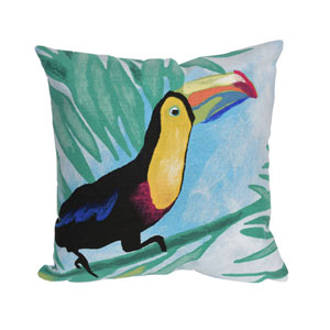 Visions III Sky 20-Inch Toucan Outdoor Pillow