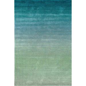 Arca Aqua Rectangular 7 Ft. 6 In. x 9 Ft. 6 In. Ombre Indoor Rug