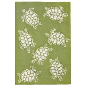 Capri Ivory Rectangular 7 Ft. 6 In. x 9 Ft. 6 In. Turtle Outdoor Rug
