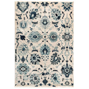 Calais Neutral Rectangular 8 Ft. 10 In. x 11 Ft. 9 In. Vintage Floral Indoor Rug
