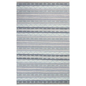Cosmos Neutral Rectangular 42 In. x 66 In. Gypsy Stripe Outdoor Rug