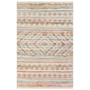 Cosmos Neutral Rectangular 5 Ft. x 7 Ft. 6 In. Kilim Outdoor Rug