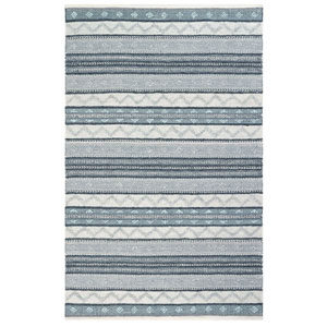 Cosmos Neutral Rectangular 8 Ft. 3 In. x 11 Ft. 6 In. Gypsy Stripe Outdoor Rug