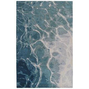 Corsica Silver Rectangular 8 Ft. 3 In. x 11 Ft. 6 In. Water Indoor Rug