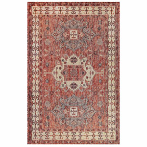 Carmel Silver Rectangular 4 Ft. 10 In. x 7 Ft. 6 In. Kilim Outdoor Rug