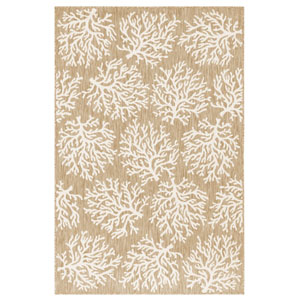Carmel Silver Rectangular 4 Ft. 10 In. x 7 Ft. 6 In. Coral Outdoor Rug