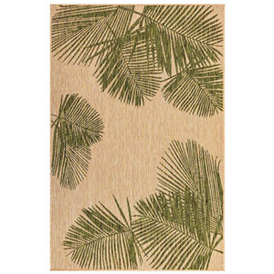 Carmel Green Rectangular 6 Ft. 6 In. x 9 Ft. 4 In. Palm Outdoor Rug