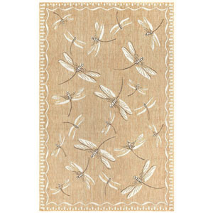 Carmel Silver Rectangular 6 Ft. 6 In. x 9 Ft. 4 In. Dragonfly Outdoor Rug