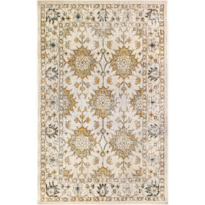 Carmel Silver Rectangular 7 Ft. 10 In. x 9 Ft. 10 In. Vintage Floral Outdoor Rug
