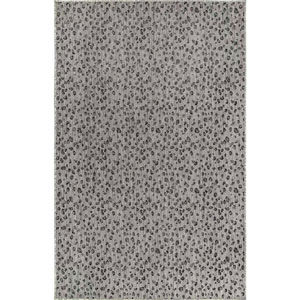 Carmel Silver Rectangular 7 Ft. 10 In. x 9 Ft. 10 In. Leopard Outdoor Rug