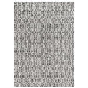 Cove Silver Rectangular 39 In. x 59 In. Diamond Stripe Outdoor Rug