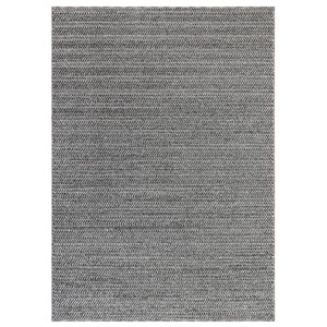 Cove Silver Rectangular 7 Ft. 10 In. x 9 Ft. 10 In. Chevron Stripe Outdoor Rug