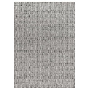 Cove Silver Rectangular 7 Ft. 10 In. x 9 Ft. 10 In. Diamond Stripe Outdoor Rug