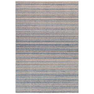 Dakota Blue Rectangular 42 In. x 66 In. Stripe Outdoor Rug