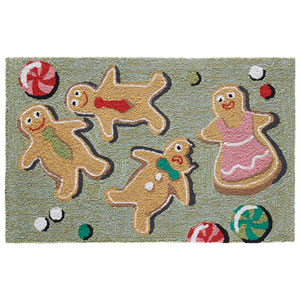 Frontporch Multi Rectangular 30 In. x 48 In. Glazed and Amused Outdoor Rug
