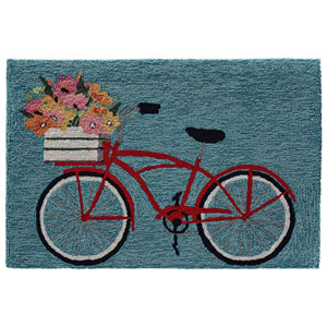Frontporch Natural Rectangular 30 In. x 48 In. Bike Ride Outdoor Rug