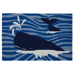 Frontporch Natural Rectangular 30 In. x 48 In. Whalecome Outdoor Rug