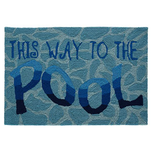 Frontporch Natural Rectangular 30 In. x 48 In. This Way To The Pool Outdoor Rug