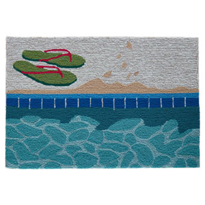 Frontporch Natural Rectangular 30 In. x 48 In. Poolside Outdoor Rug