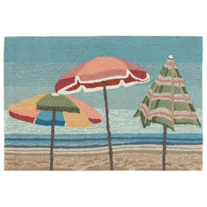 Frontporch Natural Rectangular 30 In. x 48 In. Beach Umbrellas Outdoor Rug