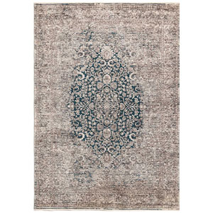 Jasmine Blue Rectangular 8 Ft. 10 In. x 11 Ft. 6 In. Medallion Indoor Rug