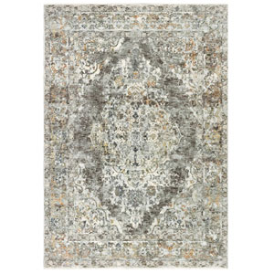 Jasmine Ivory Rectangular 8 Ft. 10 In. x 11 Ft. 6 In. Diamond Medallion Indoor Rug