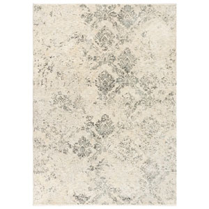 Jasmine Ivory Rectangular 8 Ft. 10 In. x 11 Ft. 6 In. Damask Indoor Rug