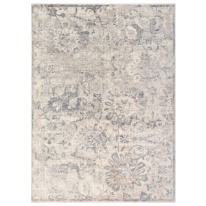 Lotus Taupe Rectangular 8 Ft. 10 In. x 11 Ft. 6 In. Floral Indoor Rug