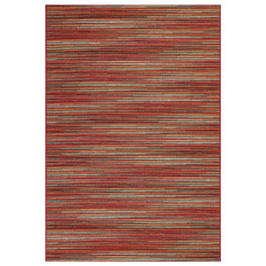Marina Saffron Rectangular 4 Ft. 10 In. x 7 Ft. 6 In. Stripes Outdoor Rug