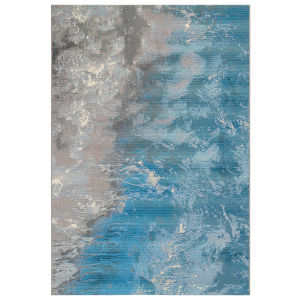 Liora Manne Marina Ocean 4 Ft. 10 In. x 7 Ft. 6 In. Surf Indoor/Outdoor Rug