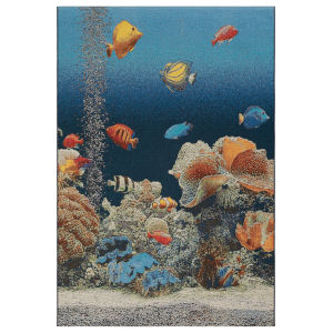Liora Manne Marina Ocean 4 Ft. 10 In. x 7 Ft. 6 In. Aquarium Indoor/Outdoor Rug