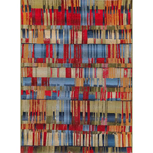 Marina Saffron Rectangular 6 Ft. 6 In. x 9 Ft. 4 In. Paintbox Outdoor Rug