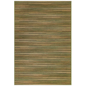 Marina Blue Rectangular 6 Ft. 6 In. x 9 Ft. 4 In. Stripes Outdoor Rug