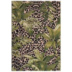 Marina Cream Rectangular 8 Ft. 10 In. x 11 Ft. 9 In. Safari Outdoor Rug