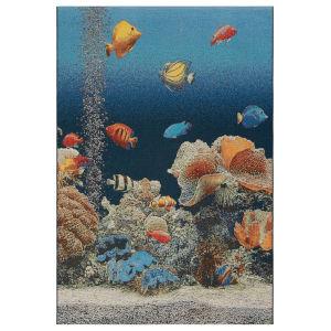 Liora Manne Marina Ocean 23 In. x 7 Ft. 6 In. Aquarium Indoor/Outdoor Rug