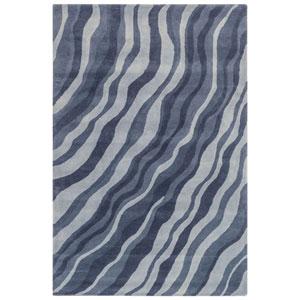 Piazza Sea Breeze Rectangular 42 In. x 66 In. Waves Indoor Rug